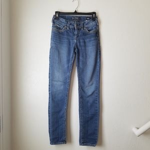 Silver Suki Mid Pencil Skinny Light Blue Jeans